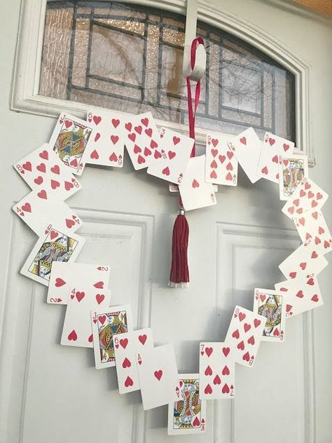 Playing Card Valentine's Day Wreath