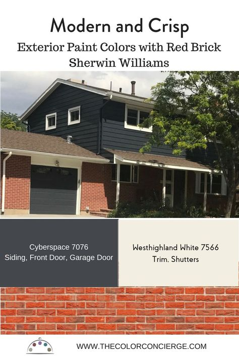 Best Exterior Paint Colors For Red Brick Homes And How To Use Them Red Brick House Red Brick Exteriors Red Brick House Exterior