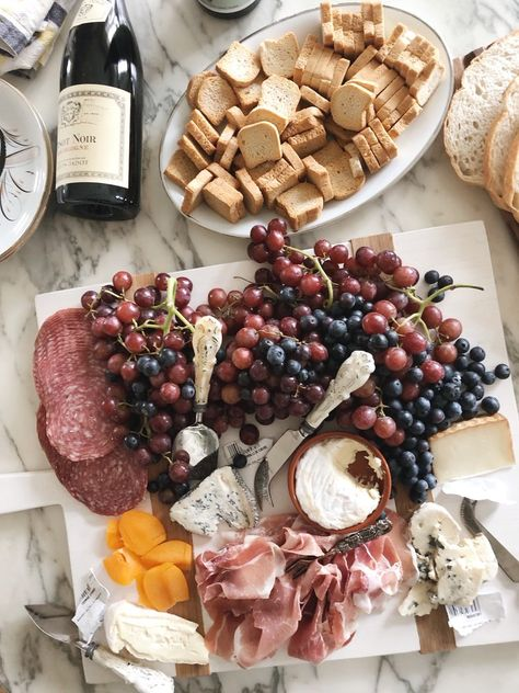 French Inspired Cheese Board For Bastille Day - Entertaining Friends & Family - Food Platters, Cheese Platters, Charcuterie And Cheese Board, Cheese Boards, French Appetizers, Peach Syrup, French Cheese, Bastille Day, French Food