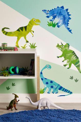 Ben The Dino Wall Sticker Wallpaper   Bedroom stickers, Boys ...