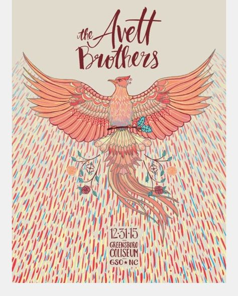 avett brothers concert posters