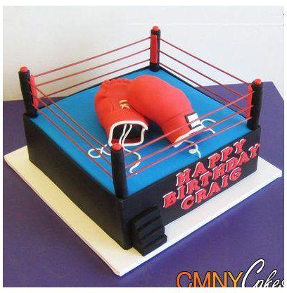 Pin By Renen Dorei Martinez On Grandpas 90th Birthday In 2021 Boxing Gloves Cake Ring Cake Wrestling Birthday Cakes