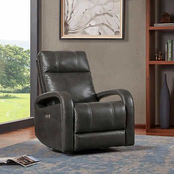 Reilly Leather Power Recliner Power Recliners Power Recliner Chair Recliner