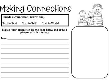 Making Connections Worksheet Printable