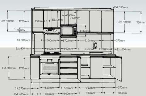 Plan de cuisine  les différents types Kitchens, Kitchen design - idee plan maison en longueur