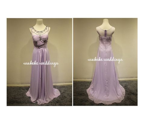 2 colors, Long bridesmaid dresses,Custom size chiffon bridesmaid dress,Cheap Bridesmaid dress,Formal dress,Long party dress, crystal flower