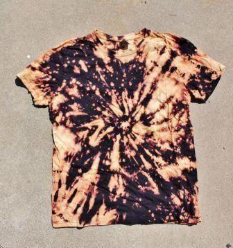 Tie Dye Bleach Shirt Ties Tie Dye Shirts Patterns Diy Tie Dye Shirts Reverse Tie Dye