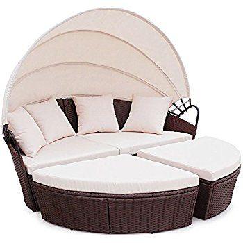 Poly Rattan Sunbed Lounge Gartenset Sofa Garnitur Polyrattan