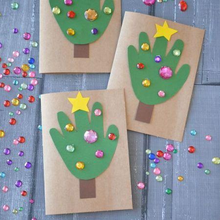 Carte de noel wooloo   Wooloo | Handprint christmas, Fun christmas