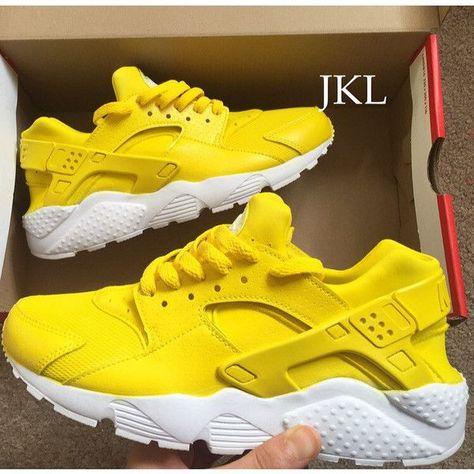 85761c405b39 Lemon Adults Nike Air Huarache Lemon Huarache Nike Huarache Yellow...  ( 183) ❤ liked on Polyvore featuring shoes