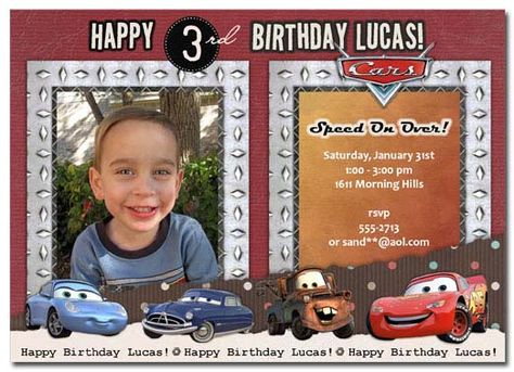 Cars Birthday Invitation | personalized cars invitation | cars birthday party | cars photo invitation  #disneycarsinvitation #disneycarsphotoinvitation