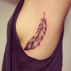 Petite Plume Realisee Par Kimiduck Tattoos Tattoos Feather
