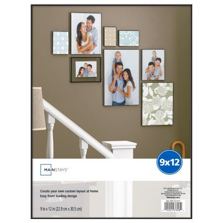 Mainstays 9x12 Black Format Frame Picture Frames Photo Wall Art Gallery Wall
