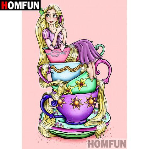5D Diamond Painting Rapunzel Teacup Kit Offered by Bonanza Marketplace. www.BonanzaMarketplace.com #diamondpainting #5ddiamondpainting #paintwithdiamonds #disneydiamondpainting #dazzlingdiamondpainting #paintingwithdiamonds #Londonislovinit #Rapunzel