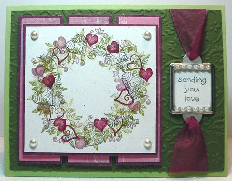 Heart Deco Card by Judith Rozema with Tapestry Stamps