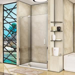 1000x1500mm Chrome Pivot Shower Bath Screen Easyclean Glass Shelves Bath Screens Shower Doors Glass Shelves