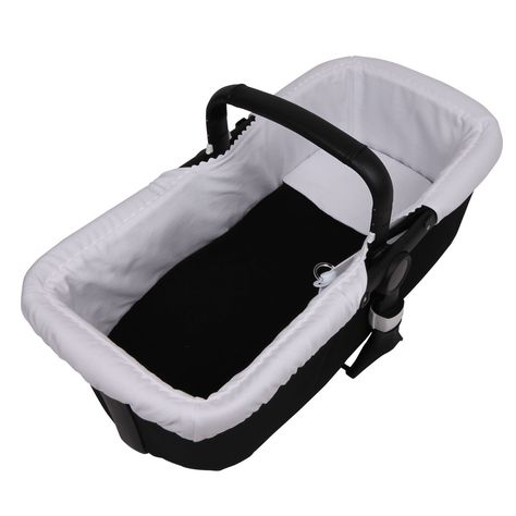 Tititnins/® Acolchado Transpirable- 100/% Algod/ón Funda Capazo Velcro Bugaboo Buffalo PIQUE BLANCO