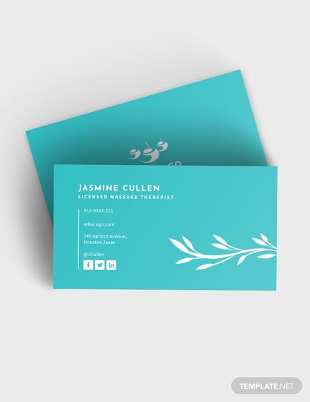 Licensed Massage Therapist Business Card Business Card Template