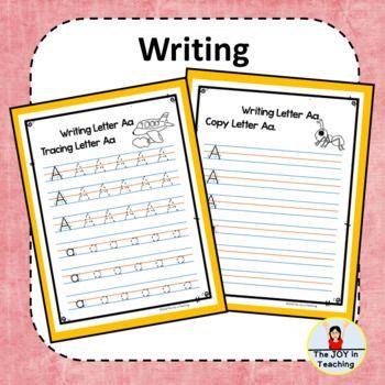 Pre K Alphabet Handwriting Take Home Packet By The Joy In Teaching Teachers Pay Teachers Handwriting Alphabet Alphabet Kindergarten Teaching