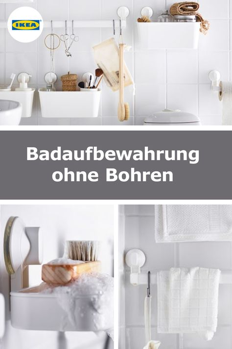 Badhalterungen Ohne Bohren Alles An Der Wand Bad Bad Aufbewahrung Ikea Ideen