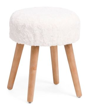 View All Marshalls Vanity Stool Fur Furniture Luxe Decor