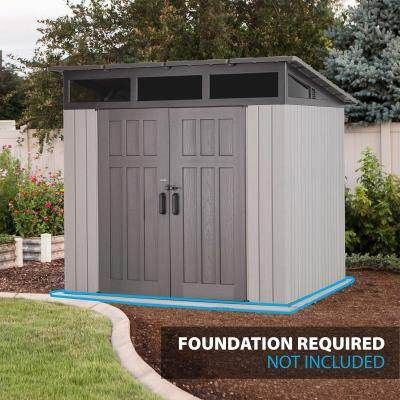 Lifetime 8 3 Ft X 8 3 Ft Outdoor Storage Shed In 2021 Outdoor Storage Sheds Shed Storage Shed