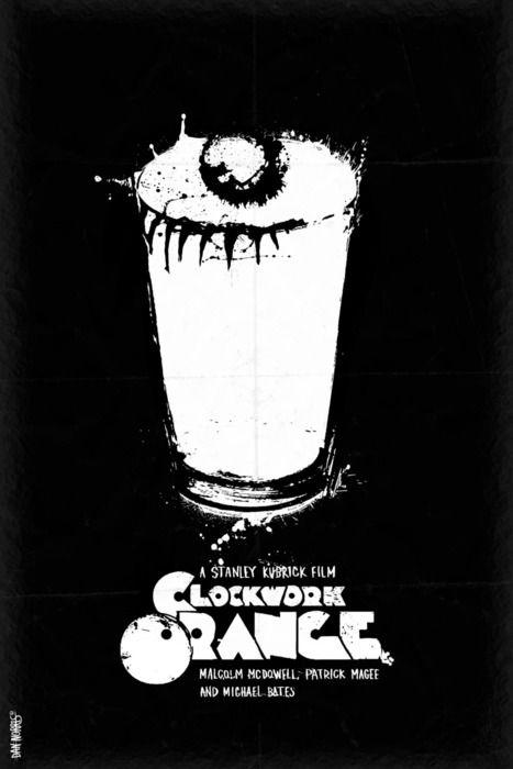 Un collar de cartel Naranja Mecánica Película Malcolm McDowell Retro Película De Culto