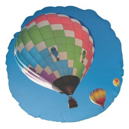 Hot Air Balloons Round Pillow home