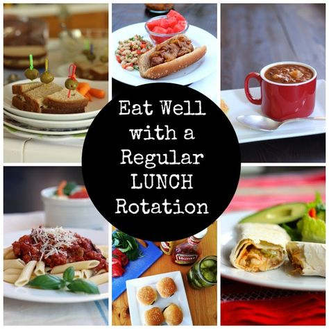 Plan a Regular Rotation for Lunches - Planning a regular rotation of lunch items can make meal planning and prep loads easier.