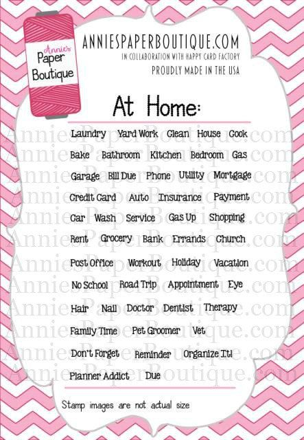 At Home Planner Stamp Set By Annieu0027s Paper Boutique   For Your Planner,  Calendars, And Filofax, Clear Stamps | Own It | Pinterest | Filofax, Clear  Stamps ...
