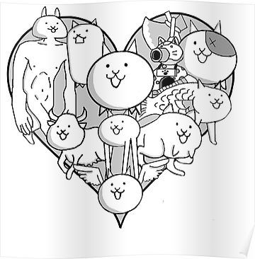 Pin By Maria Martinez Marroquin On Battle Cats Cat Colors Cat Coloring Page Cat Stickers