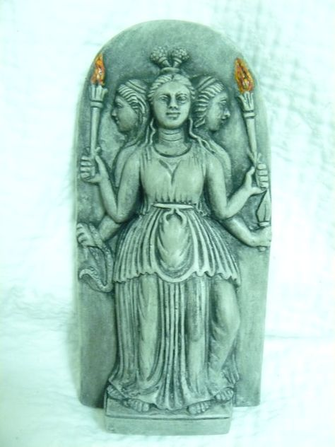 PAGAN/WICCAN HECATE goddess statue/wall hanging   by altheahousley, $9.99