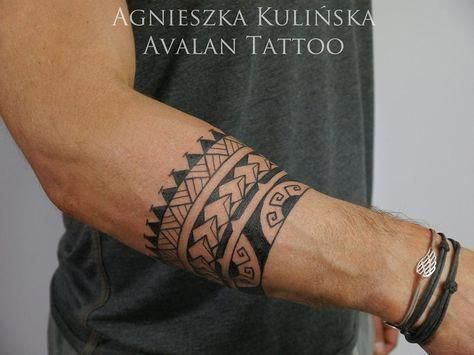 Samoan Tattoos Forearm Samoantattoos Polynesiantattoos Maori Tattoo Forearm Band Tattoos Tattoos