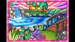 Cara Gradasi Warna Ep 113 Tema Gambar Pemandangan Air Terjun
