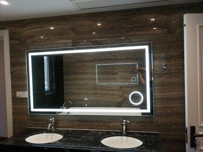 60inch Wide Bathroom Vanity Mirror Led With Maginify X3 Wooden Mirror Frame Mirror Led Mirror