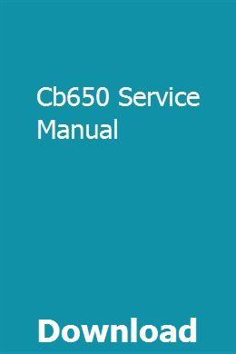 Cb650 Service Manual Owners Manuals Manual Cb650
