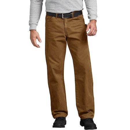 TOP Fighting Mens Relaxed Fit Straight-Leg Duck Carpenter Jean with Tool Pockets