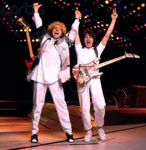 Eddie Van Halen ❤️  Sammy Hagar  1986 5150 tour