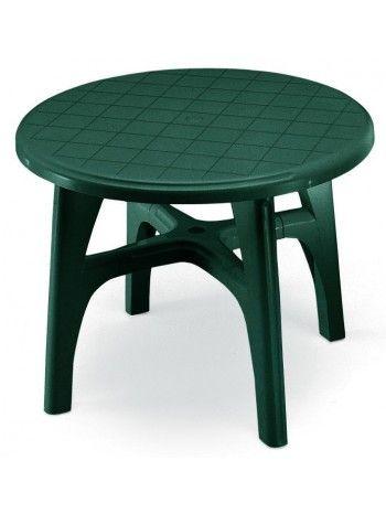 Tavolo Rotondo Per Esterno.Tavolo Realizzato In Resina Bianco O Verde Bosco Pratico E