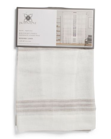 38x84 Set Of 2 Wexford Curtains Living Room T J Maxx Sheer