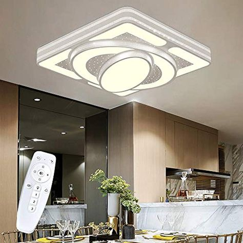 Wohnzimmerlampe Deckenleuchte Led Dimmbar Mit Fernbedienungen 64w