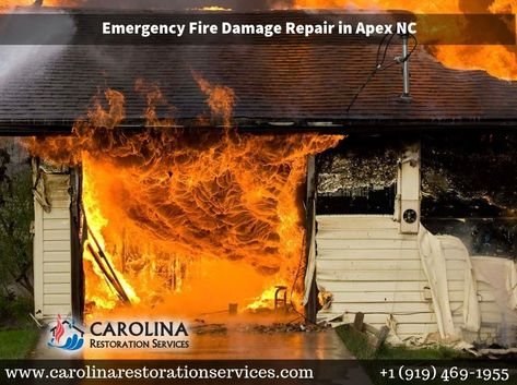 Apex Fire Damage Restoration With Images Fire Damage Damage