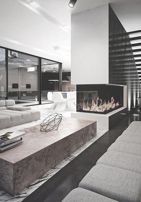 Sogni mai di vivere in una casa di lusso? Pin Di Martina Viganoni Su Architettura D Interni Design Case Moderne Interior Design Per La Casa Caminetto Moderno