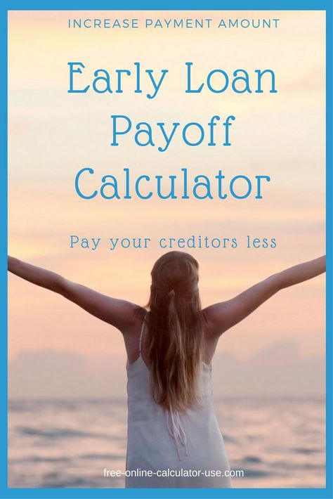early loan payoff calculator to calculate extra payment savings