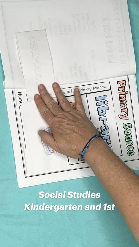 Social Studies  Kindergarten and 1st