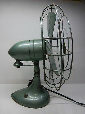 Ebay Ad Link Vintage 10 Singer Oscillating Fan Works In 2020 Oscillating Fans Green Art Deco Vintage