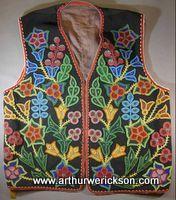 ojibway floral beadwork | Ojibwa beaded vest, c. 1900