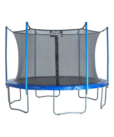 This 12 Trampoline Set Is Perfect Zulilyfinds Upper Bounce Trampoline Trampoline Enclosure Trampoline