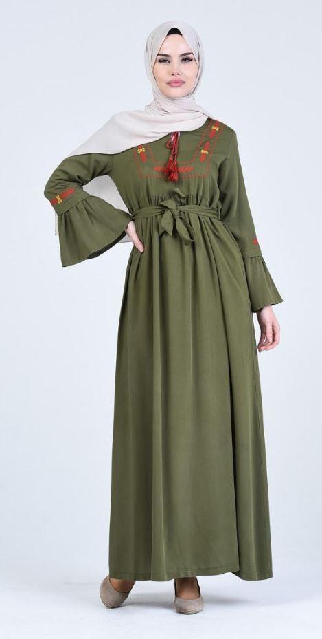 Sefamerve Etnik Desen Hamile Elbise Tesettur Giyim 2020 The Dress Giyim Mankenler