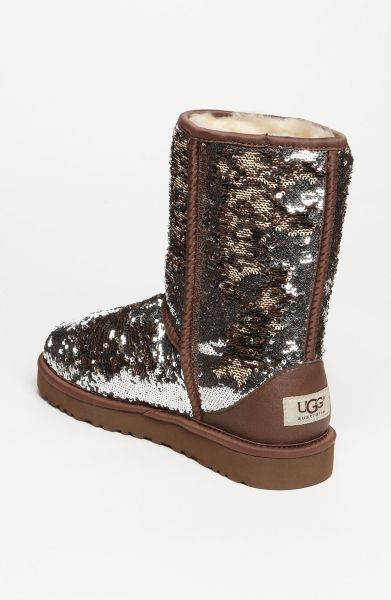 sparkle uggs ugg classic short sparkle boot in brown leopard rh pinterest ie